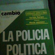 Coleccionismo de Revista Cambio 16: CAMBIO16 Nº 257 NOVIEMBRE 1976. LA POLICÍA POLÍTICA SE DESP.I.D.E. GUINEA, MACÍAS AMENAZA.. Lote 148970078