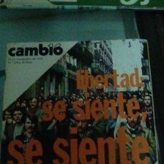 Coleccionismo de Revista Cambio 16: CAMBIO16 Nº 258 NOVIEMBRE 1976. LIBERTAD: SE SIENTE, SE SIENTE. ORO ESPAÑOL, NO ESTÁ EN MOSCÚ. Lote 148970758