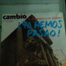 Coleccionismo de Revista Cambio 16: CAMBIO16 Nº 259 NOVIEMBRE 1976. ¡YA HEMOS PASAO! EL GOBIERNO ESTÁ SEGURO. SAHARA, SE BUSCA LA PAZ.. Lote 148971614