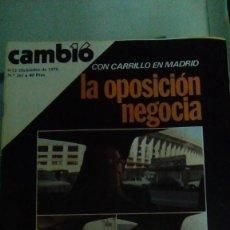 Coleccionismo de Revista Cambio 16: CAMBIO16 Nº 261 DICIEMBRE 1976. CON CARRILLO EN MADRID. LA OPOSICIÓN NEGOCIA. SUÁREZ EN ALZA.. Lote 148973346