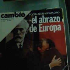 Coleccionismo de Revista Cambio 16: CAMBIO16 Nº 262 DICIEMBRE 1976. SOCIALISTAS EN MADRID. EL ABRAZO DE EUROPA. LA POLICÍA SE REFORMA.. Lote 148974162