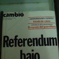 Coleccionismo de Revista Cambio 16: CAMBIO16 Nº 263 DICIEMBRE 1976. REFERENDUM BAJO SECUESTRO. EL REPOSO DEL GUERRILLERO. Lote 148975354