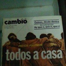 Coleccionismo de Revista Cambio 16: CAMBIO16 Nº 264 DIC/ENE 1976/77. PRESOS POLÍTICOS. TODOS A CASA. REFERE. AY QUE SÍ, QUE SÍ, QUE SÍ. . Lote 148975982
