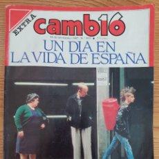 Coleccionismo de Revista Cambio 16: CAMBIO 16 N° 833 UN DÍA EN LA VIDA DE ESPAÑA. Lote 149694652