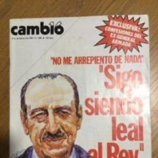 Coleccionismo de Revista Cambio 16: CAMBIO16 GENERAL ARMADA, NÚM. 688, FEBRERO 1985. Lote 150057334