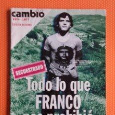 Coleccionismo de Revista Cambio 16: CAMBIO 16. EDICIÓN FACSÍMIL. 1974-1977. TODO LO QUE FRANCO NOS PROHIBIÓ. SECUESTRADO. . Lote 151689486