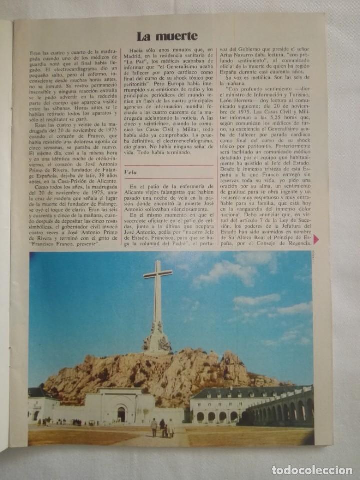 Coleccionismo de Revista Cambio 16: CAMBIO ´16 : LA MUERTE . ESPECIAL MUERTE DE FRANCO , NOVIEMBRE 1975 - Foto 2 - 153347922
