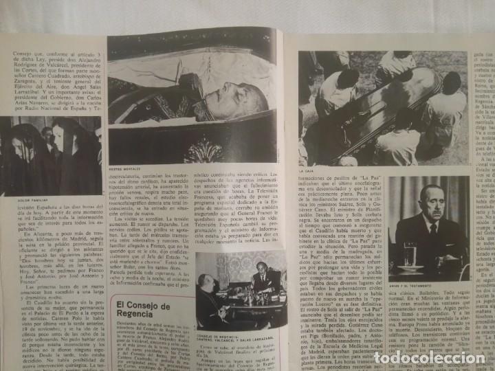Coleccionismo de Revista Cambio 16: CAMBIO ´16 : LA MUERTE . ESPECIAL MUERTE DE FRANCO , NOVIEMBRE 1975 - Foto 4 - 153347922