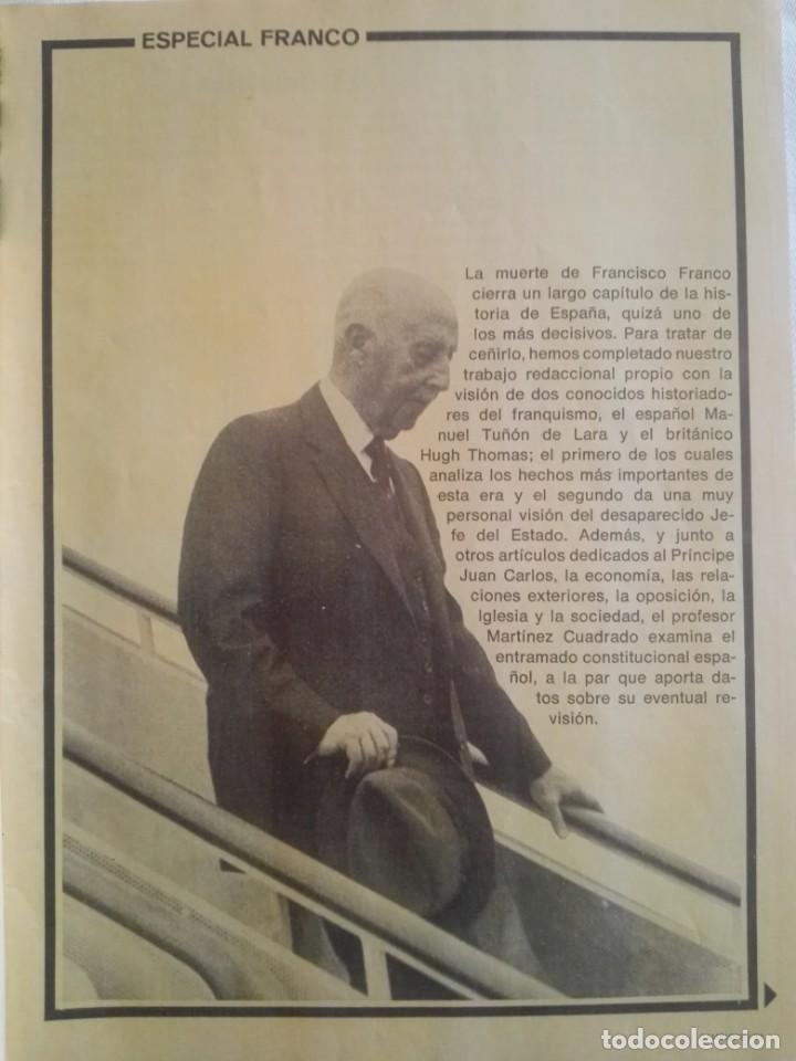 Coleccionismo de Revista Cambio 16: CAMBIO ´16 : LA MUERTE . ESPECIAL MUERTE DE FRANCO , NOVIEMBRE 1975 - Foto 5 - 153347922