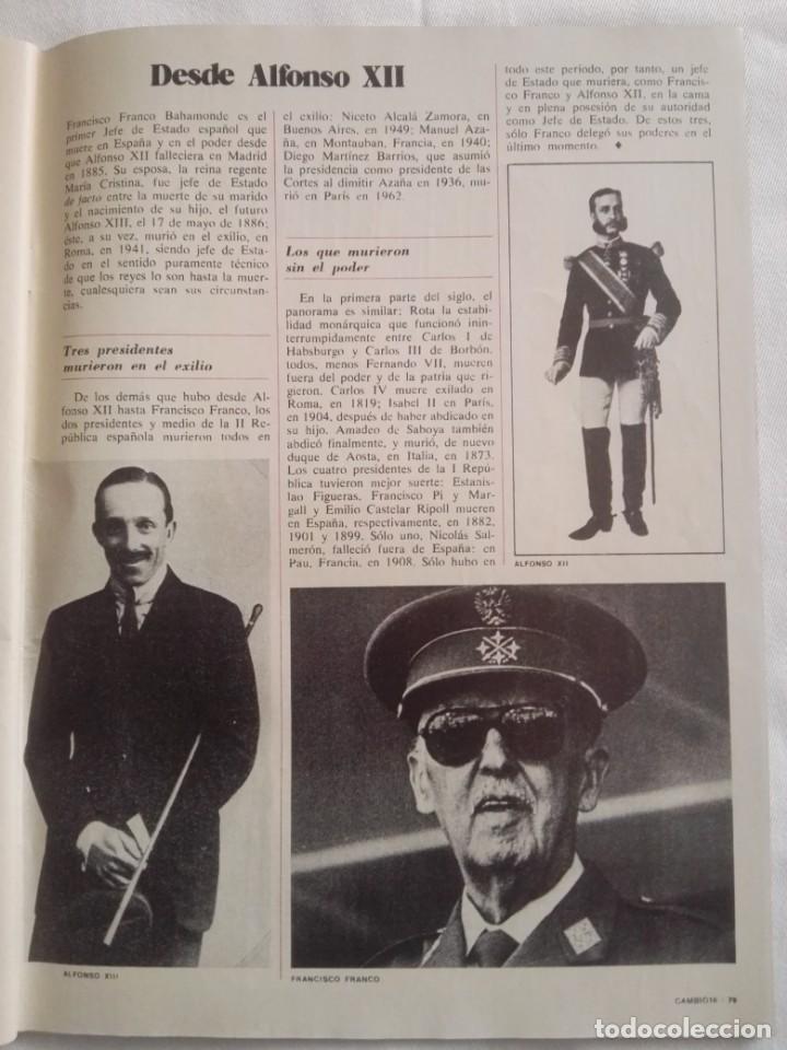 Coleccionismo de Revista Cambio 16: CAMBIO ´16 : LA MUERTE . ESPECIAL MUERTE DE FRANCO , NOVIEMBRE 1975 - Foto 6 - 153347922