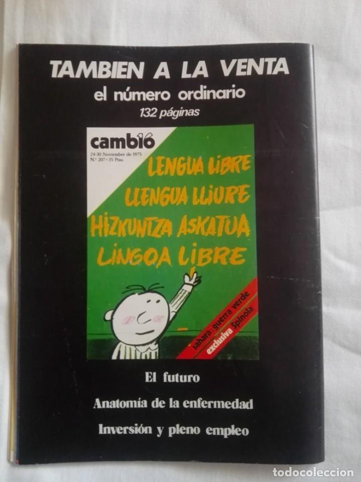 Coleccionismo de Revista Cambio 16: CAMBIO ´16 : LA MUERTE . ESPECIAL MUERTE DE FRANCO , NOVIEMBRE 1975 - Foto 7 - 153347922