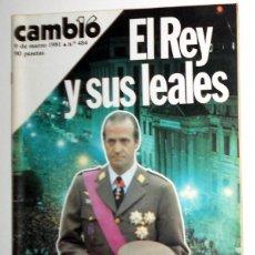Coleccionismo de Revista Cambio 16: REVISTA CAMBIO 16 ANTIGUA Nº484 GOLPE DE ESTADO 23-F TEJERO - SECUESTRO DE QUINI FC BARCELONA FÚTBOL. Lote 154714582