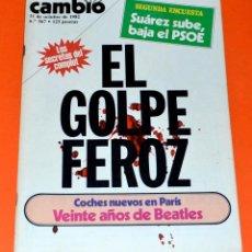 Coleccionismo de Revista Cambio 16: REVISTA CAMBIO 16. 11 OCTUBRE 1982. Lote 154767490