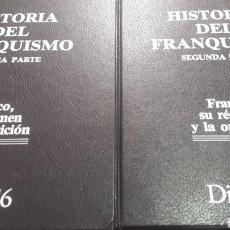 Coleccionismo de Revista Cambio 16: HISTIRIA FRANQUISMO DIARIO 16 DOS TOMOS FRANCO SU REGIMEN Y LA OPOSICION 1976. Lote 156499434