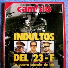 Coleccionismo de Revista Cambio 16: CAMBIO 16, NOVIEMBRE 1986 - INDULTOS 23 F - ANA TUTOR, CHAVES, BOKASSA, FERNANDO MARTIN, ROLDAN..... Lote 161816938