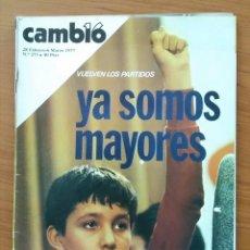 Coleccionismo de Revista Cambio 16: REVISTA CAMBIO 16 N° 273 1977 VUELVEN LOS PARTIDOS. YA SOMOS MAYORES. Lote 164057018
