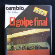 Coleccionismo de Revista Cambio 16: CAMBIO 16, 7-6-1982, Nº 549. EL GOLPE FINAL; MALVINAS- LA TENAZA INGLESA; AREILZA- LA ROMY SCHNEIDER. Lote 165475266