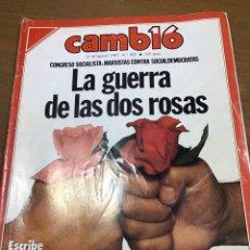 Coleccionismo de Revista Cambio 16: CAMBIO16 NÚMERO. 822. Lote 165906173