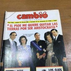 Colecionismo da Revista Cambio 16: CAMBIO 16 NÚMERO 767. Lote 165906802