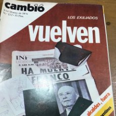 Colecionismo da Revista Cambio 16: CAMBIO 16 NÚMERO 222. Lote 165907673
