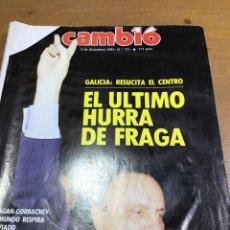 Colecionismo da Revista Cambio 16: CAMBIO 16 NÚMERO 731. Lote 165907769