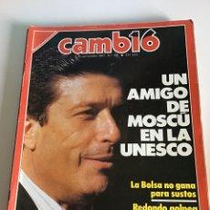 Coleccionismo de Revista Cambio 16: CAMBIO 16 NÚMERO 831. Lote 166020657