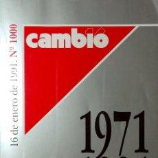 Coleccionismo de Revista Cambio 16: CAMBIO 16, Nº 1000 (16 DE ENERO DE 1991). MADRID : GRUPO EIG MULTIMEDIA, 1991. EN CUB. : 1971 – 1991. Lote 166136634