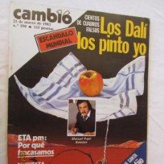 Coleccionismo de Revista Cambio 16: CAMBIO 16 REVISTA Nº 590 MARZO 1983 - LOS DALÍ LOS PINTO YO. . Lote 166452262