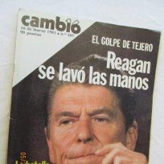 Coleccionismo de Revista Cambio 16: REVISTA CAMBIO 16 Nº 485 16 DE MARZO 1981 - EL GOLPE DE TEJERO, REAGAN SE LAVÓ LAS MANOS. . Lote 166452414