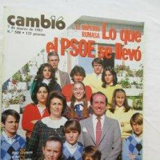 Coleccionismo de Revista Cambio 16: REVISTA CAMBIO 16 - Nº 588- MARZO 1983 - EL IMPERIO RUMASA, LO QUE EL PSOE SE LLEVÓ.. Lote 166452590
