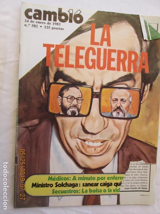 CAMBIO 16 REVISTA Nº 582 ENERO 1983 - LA TELEGUERRA. (Coleccionismo - Revistas y Periódicos Modernos (a partir de 1.940) - Revista Cambio 16)