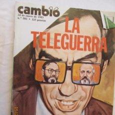 Coleccionismo de Revista Cambio 16: CAMBIO 16 REVISTA Nº 582 ENERO 1983 - LA TELEGUERRA.. Lote 166459222