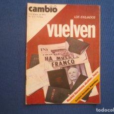 Coleccionismo de Revista Cambio 16: CAMBIO 16 N.º 222 · 1976. Lote 170923880