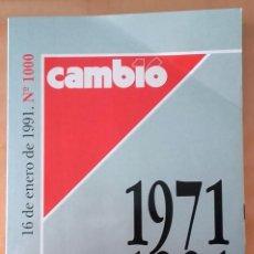 Coleccionismo de Revista Cambio 16: CAMBIO 16 Nº 1000 1971-1991 . Lote 171358195