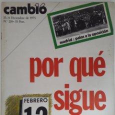 Coleccionismo de Revista Cambio 16: CAMBIO 16 N° 210 15/21 DIC. 1975 POR QUÉ SIGUE ARIAS. Lote 171488885