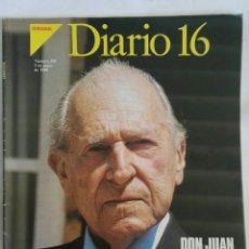 Coleccionismo de Revista Cambio 16: DIARIO 16 SEMANAL N 350 JUNIO 1988 DON JUAN DE BORBÓN. Lote 171716677