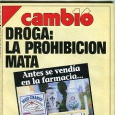 Coleccionismo de Revista Cambio 16: REVISTA CAMBIO 16 Nº 1066.- DROGA LA PROHIBICION MATA - EXPO 92 SEVILLA CAPITAL DEL MUNDO 27/4/1992. Lote 172187618