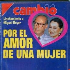 Coleccionismo de Revista Cambio 16: REVISTA CAMBIO 16 Nº 1095.- MIGUEL BOYER/ISABEL PREYSLER - RAFAEL VERA -PARIS/ BOTERO - 1/11/1992. Lote 172247368