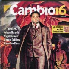 Coleccionismo de Revista Cambio 16: CAMBIO 16 Nº 1213 -ENTREVISTAS MIQUEL BARCELO/NELSON MANDELA/ FLORENTINO PEREZ/ANGUITA FEBRERO 1995. Lote 172478132