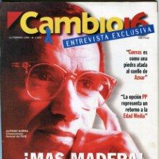 Coleccionismo de Revista Cambio 16: CAMBIO 16 Nº 1264 - CHE GUEVARA LEYENDA VIVA (4 PAG. 11 FOTOS) CANDELA PEÑA -ANDY GARCIA- FEBR. 1996. Lote 172570309