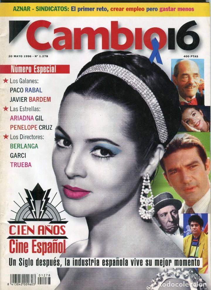 CAMBIO 16 Nº 1278-AT. DE MADRID-JAVIER BARDEM-PACO RABAL-PENELOPE CRUZ- BERLANGA -GARCI. - MAYO 1996 (Coleccionismo - Revistas y Periódicos Modernos (a partir de 1.940) - Revista Cambio 16)