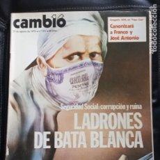 Coleccionismo de Revista Cambio 16: CAMBIO 16,N 351. Lote 172948594