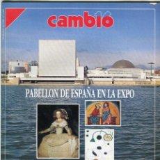 Coleccionismo de Revista Cambio 16: CAMBIO 16 Nº 1065 - EXPO'92 PABELLON DE ESPAÑA MIL AÑOS DE ARTE ESPAÑOL ABRIL DE 1992. Lote 173200988