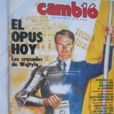 Coleccionismo de Revista Cambio 16: CAMBIO 16 Nº 73713-01-86 - EL OPUS HOY, LOS CRUZADOS DE WOJTYLA, IVA Y PARO OBSESIONAN AL GOBIERNO. Lote 174322974
