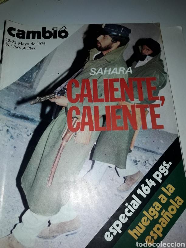 REVISTA CAMBIO 16 N 180 1975 (Coleccionismo - Revistas y Periódicos Modernos (a partir de 1.940) - Revista Cambio 16)