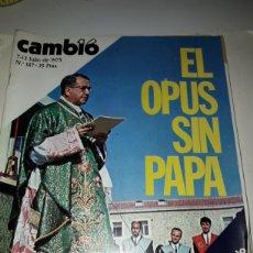 Coleccionismo de Revista Cambio 16: REVISTA CAMBIO 16 N 187 1975. Lote 178328928