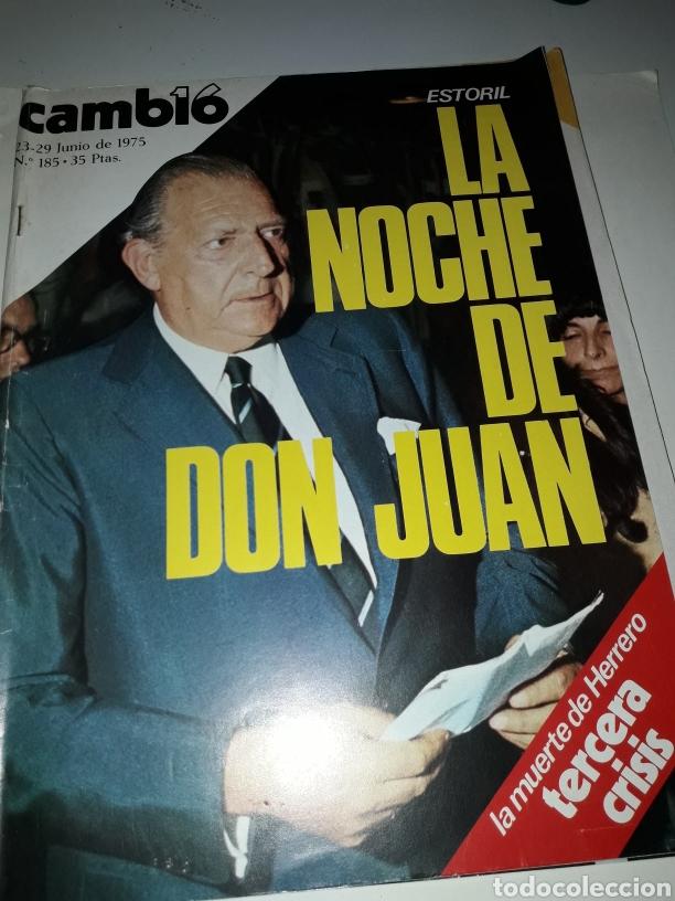 CAMBIO 16 REVISTA N 185 1975 (Coleccionismo - Revistas y Periódicos Modernos (a partir de 1.940) - Revista Cambio 16)
