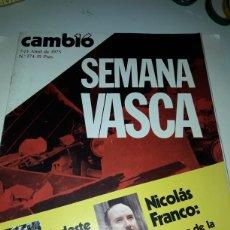 Coleccionismo de Revista Cambio 16: REVISTA CAMBIO 16 N 174 1975. Lote 178329607