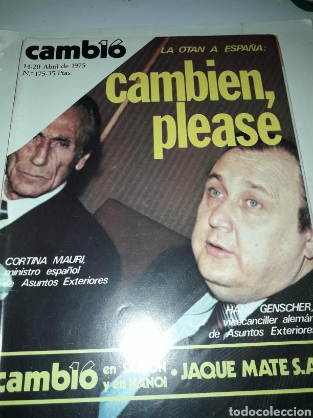 REVISTA CAMBIO 16 N 175 1975 (Coleccionismo - Revistas y Periódicos Modernos (a partir de 1.940) - Revista Cambio 16)