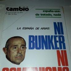 Coleccionismo de Revista Cambio 16: REVISTA CAMBIO 16 N 186 1975. Lote 178329881